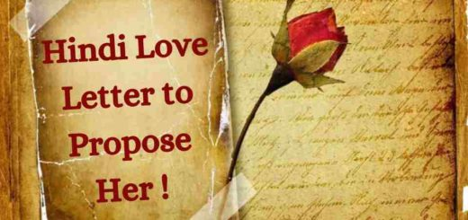 hindi love letter to propose a girl