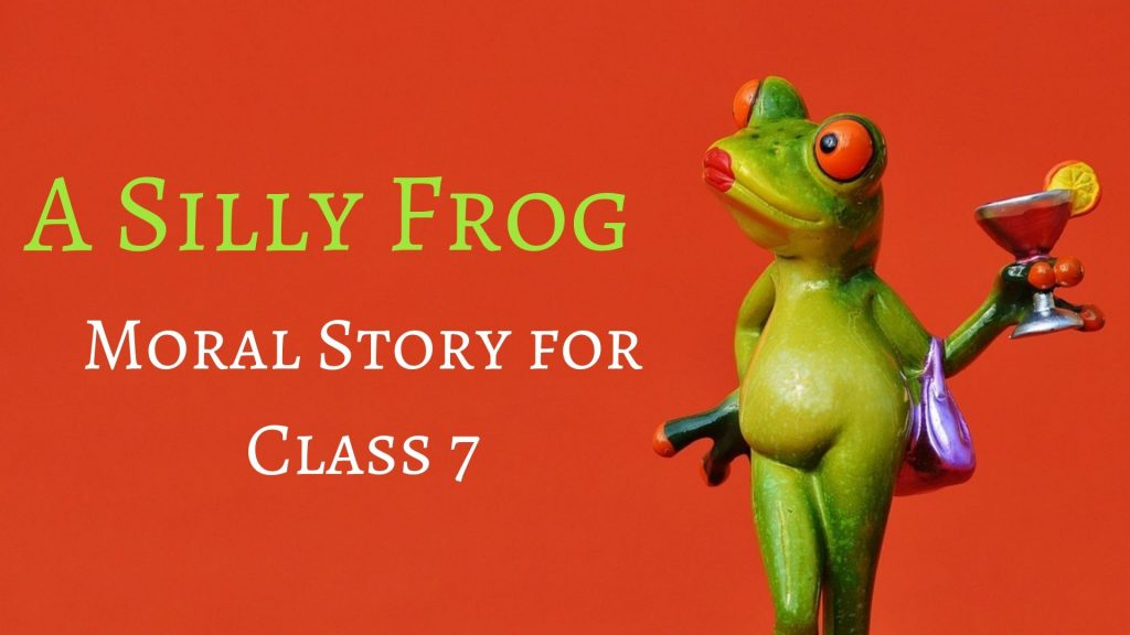 Silly frog - moral story in hindi for class 7
