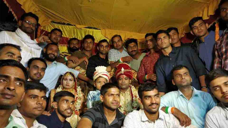 Garud commandos in the wedding ceremony of Martyr Jyoti Prakash Nirala's Sister